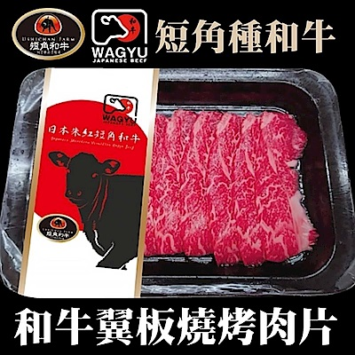 【海陸管家】日本短角和牛-嫩肩沙朗翼板燒肉片2盒(每盒約100g)