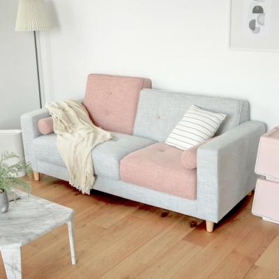 完美主義 韓系配色設計款三人座沙發/布沙發(2色)