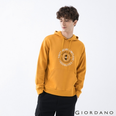 GIORDANO  男裝YOUTH連帽T恤 - 41 蜜黃