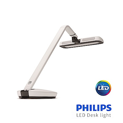 【飛利浦 PHILIPS LIGHTING】軒揚LED檯燈Strider 66111-白