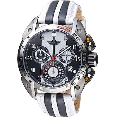 MINI Swiss Watches極速運動計時腕錶(MINI-160115)-白