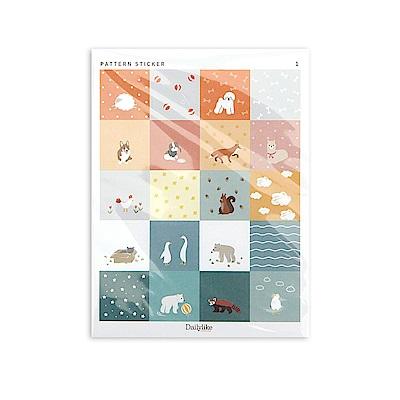 Dailylike 禮品裝飾風格貼紙組 - 02動物樂園