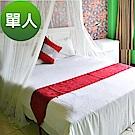 精靈工廠 五星級飯店專用 白色單人床包2件套