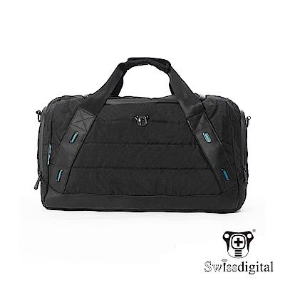 Swissdigital 都會型大容量商務肩背旅行袋-黑