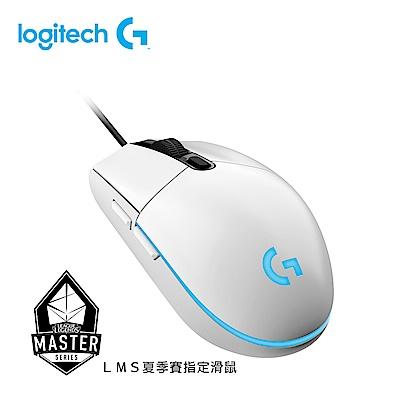 羅技 G102 純白有線電競滑鼠