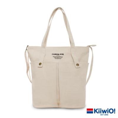 Kiiwi O! 英式經典系列多用帆布托特包 PAG 米白