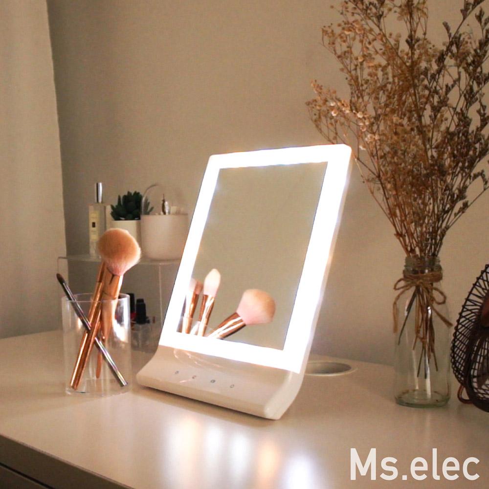 Ms.elec米嬉樂 三色智能觸控化妝鏡 桌鏡 Led化妝鏡