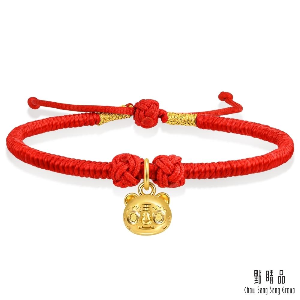點睛品 虎頭鈴鐺 彌月黃金紅繩手鍊