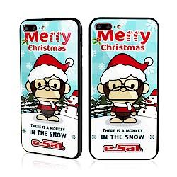 iStyle iPhone 7/8 plus 5.5吋 聖誕猴子玻璃手機殼