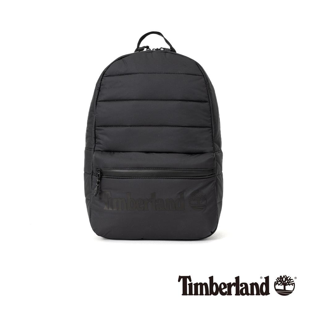 Timberland 中性黑色Logo雙肩後背包|A2FH6