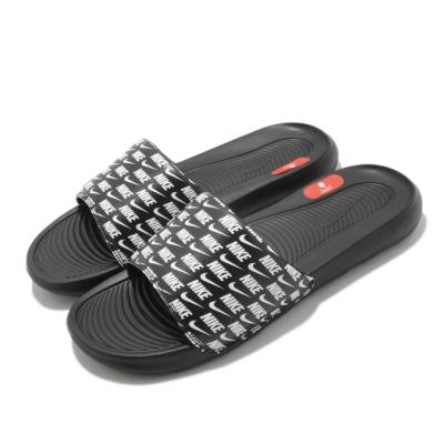 Nike 拖鞋 Victori One Slide 套腳 男鞋 輕便 夏日 滿版logo 舒適 穿搭 黑 白 CN9678006