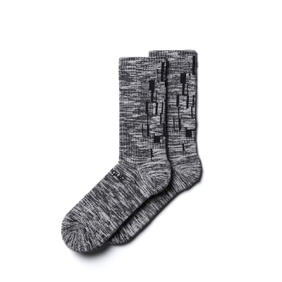 Nozzle Quiz x Ionism Melange Socks 後研 混色休閒中筒襪 男女款 單雙入 單一尺寸23cm-29cm AFIOSX01