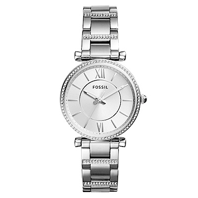 FOSSIL 愛在羅馬耀眼水鑽不鏽鋼女錶(ES4341)-35mm