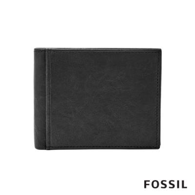 FOSSIL Ingram 真皮都會RFID男夾-黑色 ML3784001