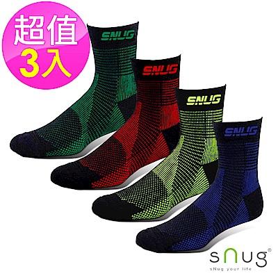 SNUG健康除臭襪-運動壓縮繃帶襪3入組-S024