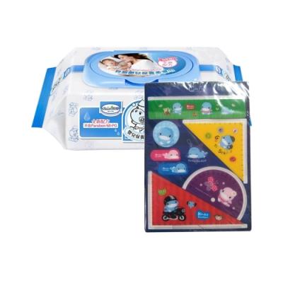 貝恩Baan NEW嬰兒保養柔濕巾80抽24入+酷咕鴨文具書籤*1