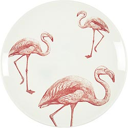 《EXCELSA》陶製平盤(紅鶴)