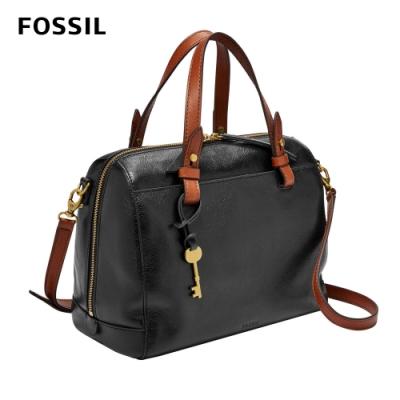 FOSSIL RACHEL 真皮波士頓包-黑色 ZB7256001