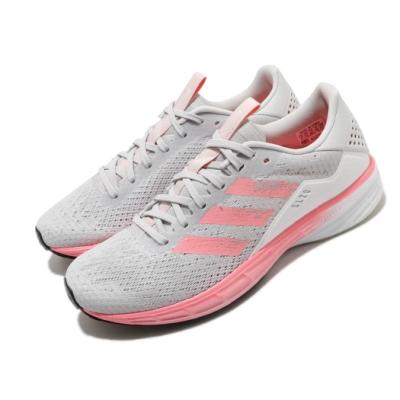 adidas 慢跑鞋 SL20 W Summer Ready 女鞋 愛迪達 三線 輕量 避震 馬牌輪胎大底 灰 粉 FU6616