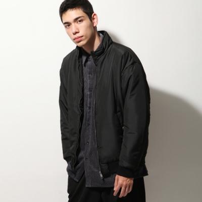 鋪棉長袖布勞森外套5色-ZIP日本男裝