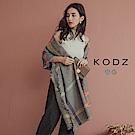 東京著衣-KODZ 名媛配件千鳥格紋撞色圍巾披肩(共二色)