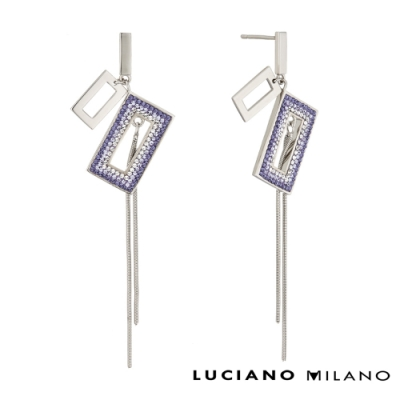 LUCIANO MILANO 迷人魅力- 魅力光彩純銀耳環