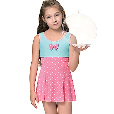 聖手牌 兒童泳裝 珠玉連身裙女童泳裝