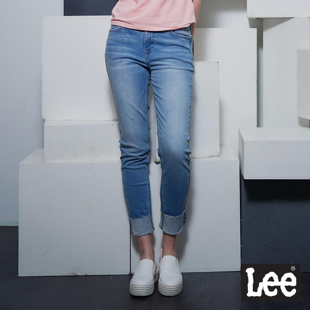 Lee 433 中腰合身窄管牛仔褲 RG 女款 淺藍
