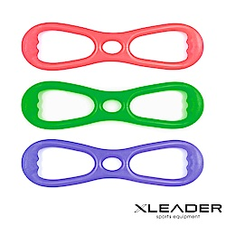Leader X 8字彈力帶 擴胸拉力帶 玫紅