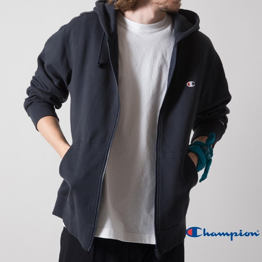 Champion Basic 內刷毛連帽外套 深藍