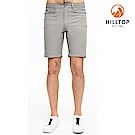 【hilltop山頂鳥】男款超潑水抗UV彈性短褲S09M71法蘭絨灰
