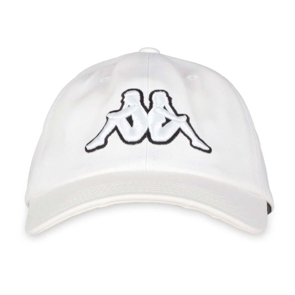KAPPA 運動帽 白黑