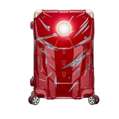 Marvel 漫威年度限量復仇者28吋 拉鍊行李箱-鋼鐵人戰損版(兩色任選)
