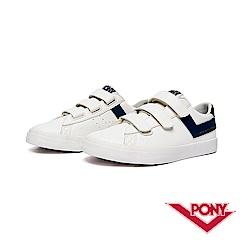 【PONY】Top Star Strap系列-魔鬼氈經典復古鞋-女-深藍