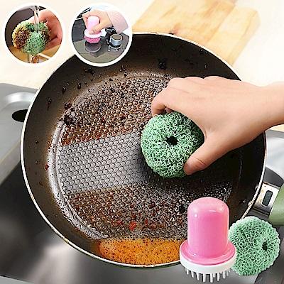 EZlife洗碗刷鍋清潔球6入組(贈吸盤杯刷)