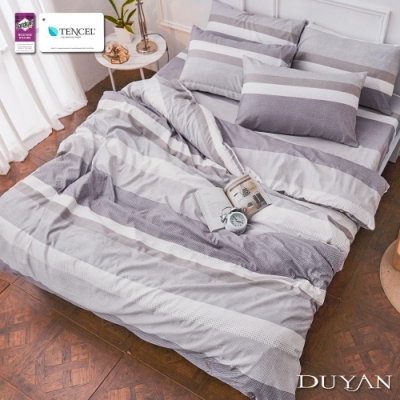 DUYAN竹漾-3M吸濕排汗奧地利天絲-雙人床包被套四件組-古斯塔夫