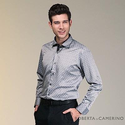ROBERTA諾貝達 製 合身版歐風長袖襯衫 灰色