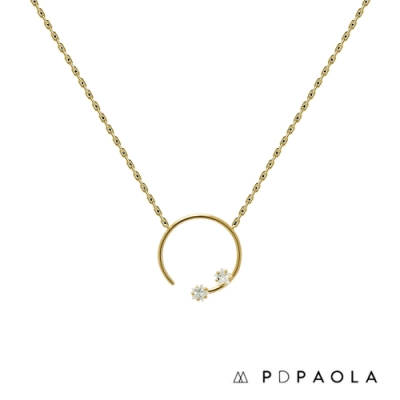 PD PAOLA 西班牙輕奢時尚品牌 極簡繁星圓圈鋯石項鍊