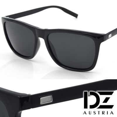 DZ 崇尚獨具 抗UV 防曬偏光 太陽眼鏡墨鏡(黑框灰片)