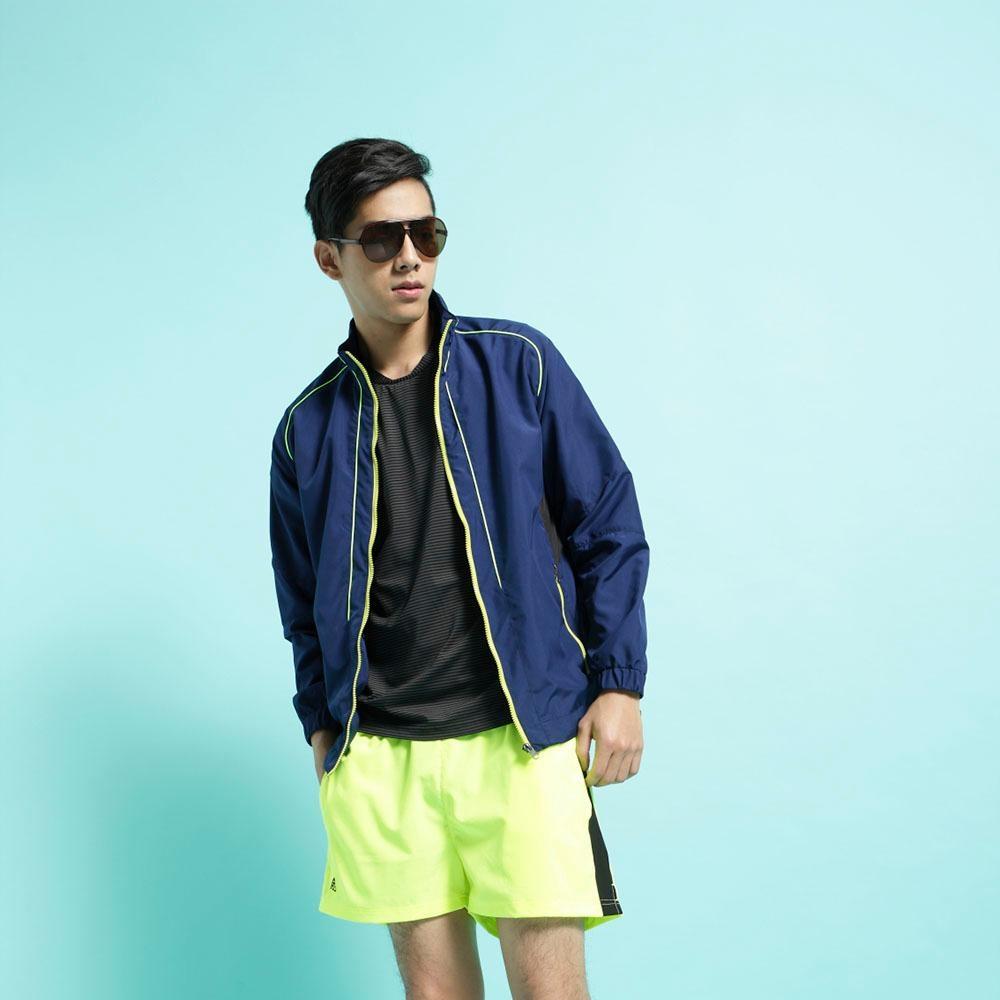 【FIVE UP】男款經典LOGO抗UV風衣外套-藍綠
