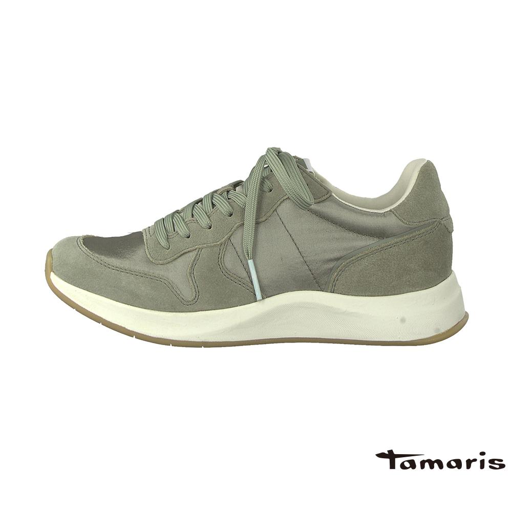 TAMARIS(女) 復古老爹 尼龍VS牛皮高彈力都會運動鞋 - 70 灰
