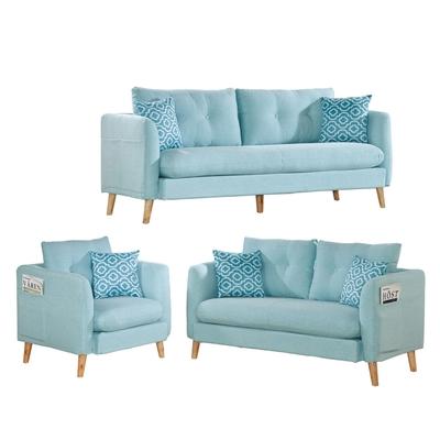 文創集 敦斯登  簡約可拆洗棉麻布獨立筒沙發椅組合(1+2+3人座)-197x80x83cm免組