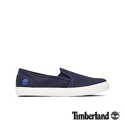 Timberland 女款海軍藍帆布休閒便鞋|A1YSV