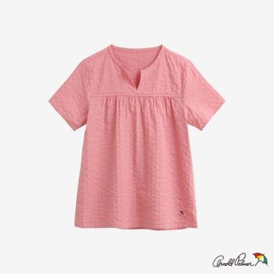Arnold Palmer-女裝-直條紋提織A-line上衣-粉