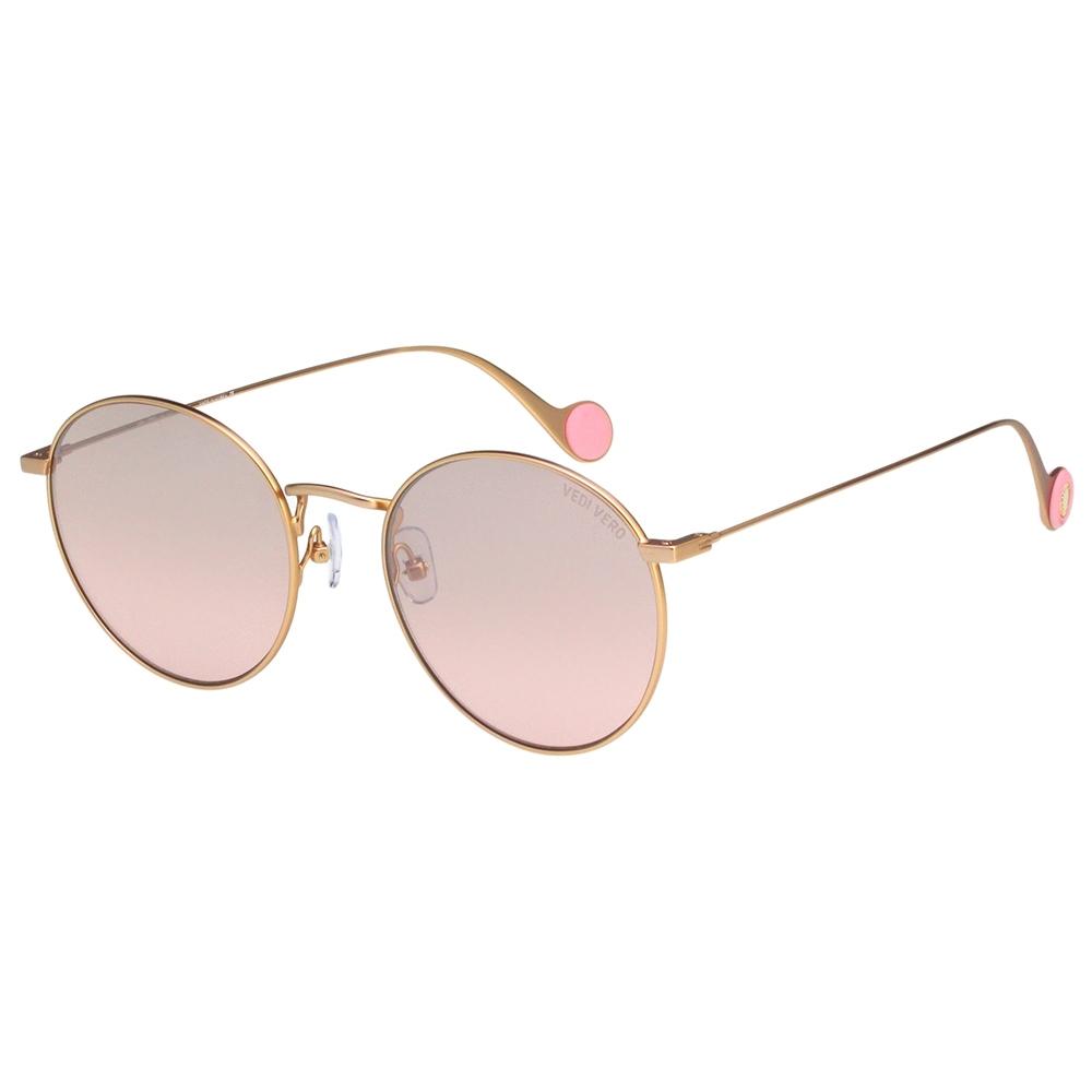 VEDI VERO 圓框 太陽眼鏡 (玫瑰金)