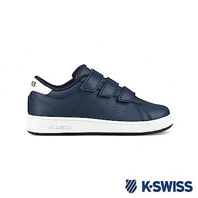 K-SWISS Clean Court 3-Strap休閒運動鞋-童-藍