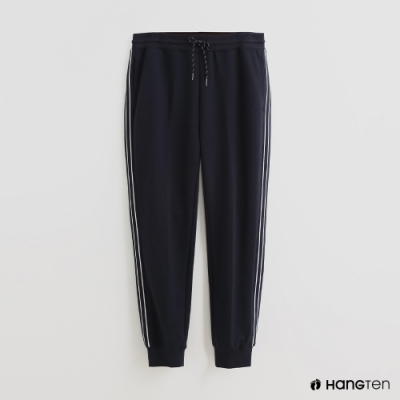 Hang Ten - 男裝 - 純色抽繩休閒長褲 - 藍