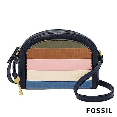 FOSSIL CHELSEA 彩色條紋半月型斜背包