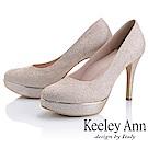 Keeley Ann耀眼新娘 清新氣質加高防水底台高跟鞋(玫瑰金色)