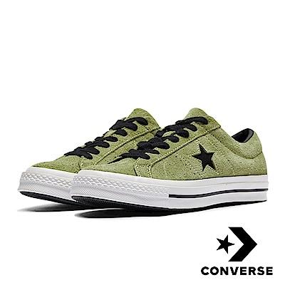 CONVERSE ONE STAR 男女休閒鞋 橄欖綠